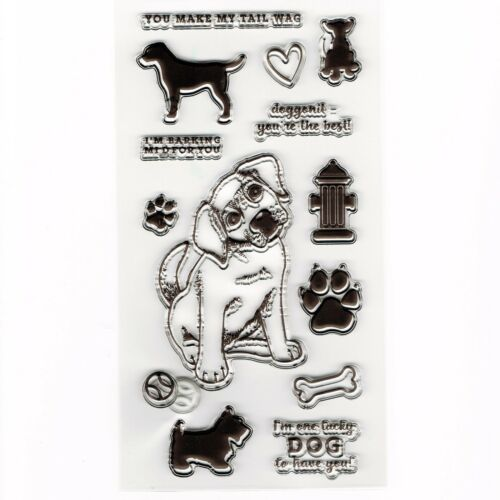 Cute Dog and Puppy Set of Clear Cling Stamps