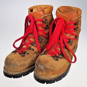 41b68987f4b Colorado Vibram Mountaineering Hiking Work Boots Leather Vtg Italy ...