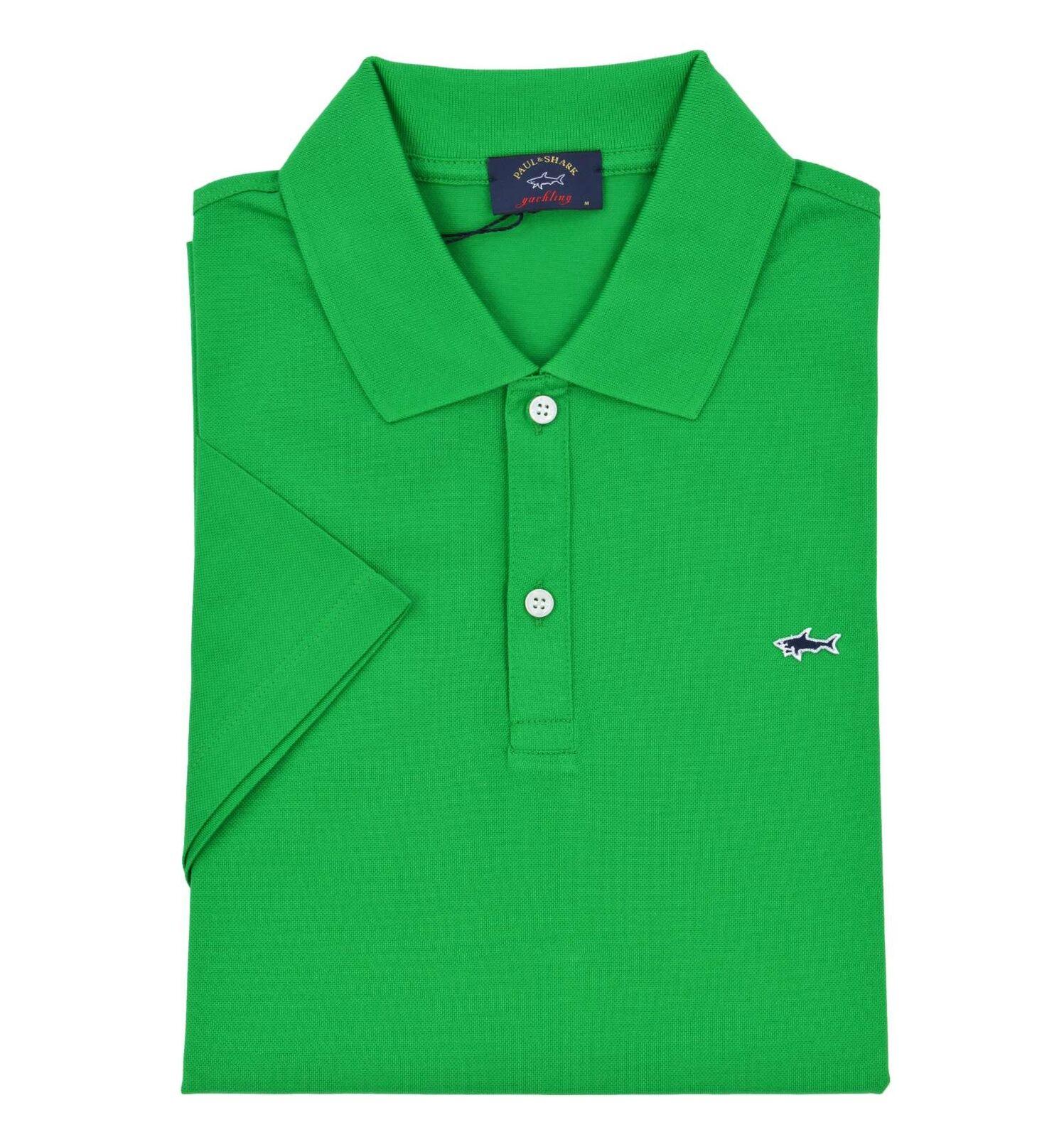 PAUL & SHARK uomo maglia polo verde C0P1013 061