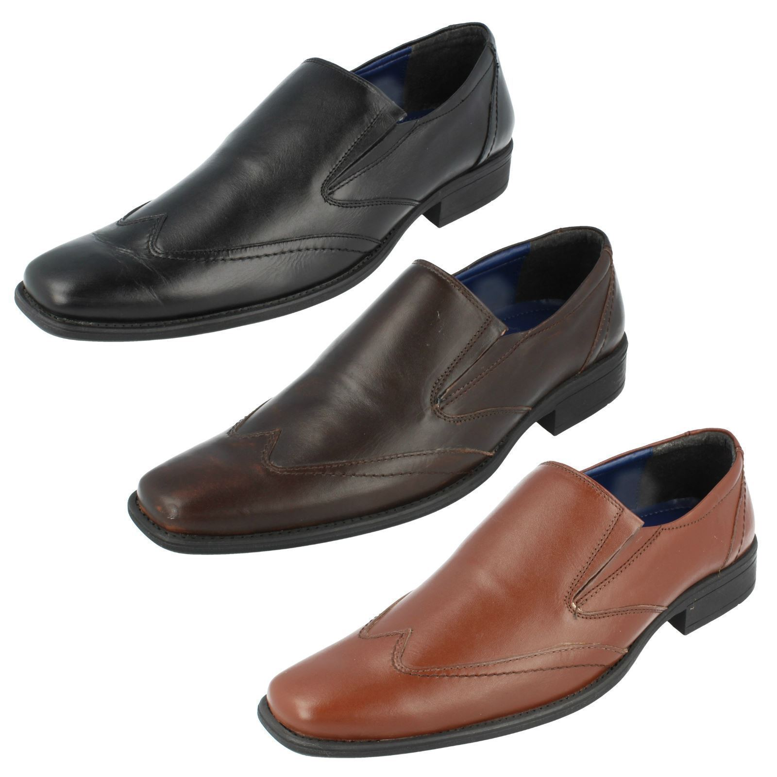 Mens Bruno Brown Donnari NN901 Black Or Brown Bruno Or Tan Slip On Smart Shoes (R40B) (Kett) 4c5b72