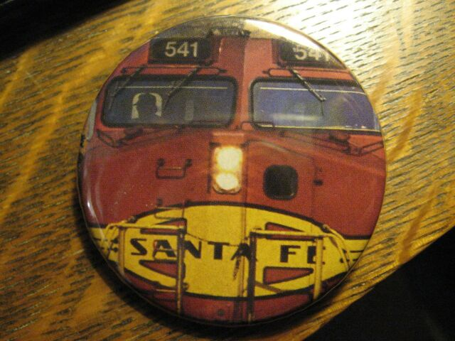 Santa Fe Railroad Red Train Engine Railway Locomotive Pocket Lipstick Mirror