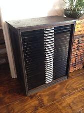 Antique Hamilton Printer Type Cabinet