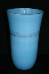 100% De Qualité Grand Vase Ancien En Opaline Bleue Lustre Brillant