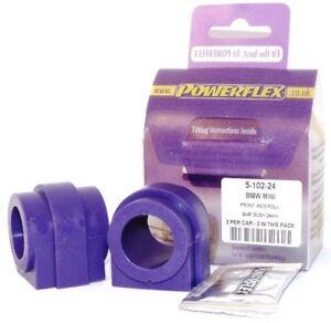 Mini-Cooper-S-R53-00-08-POWERFLEX-FRONT-ANTI-ROLL-BAR-BUSHES-24mm