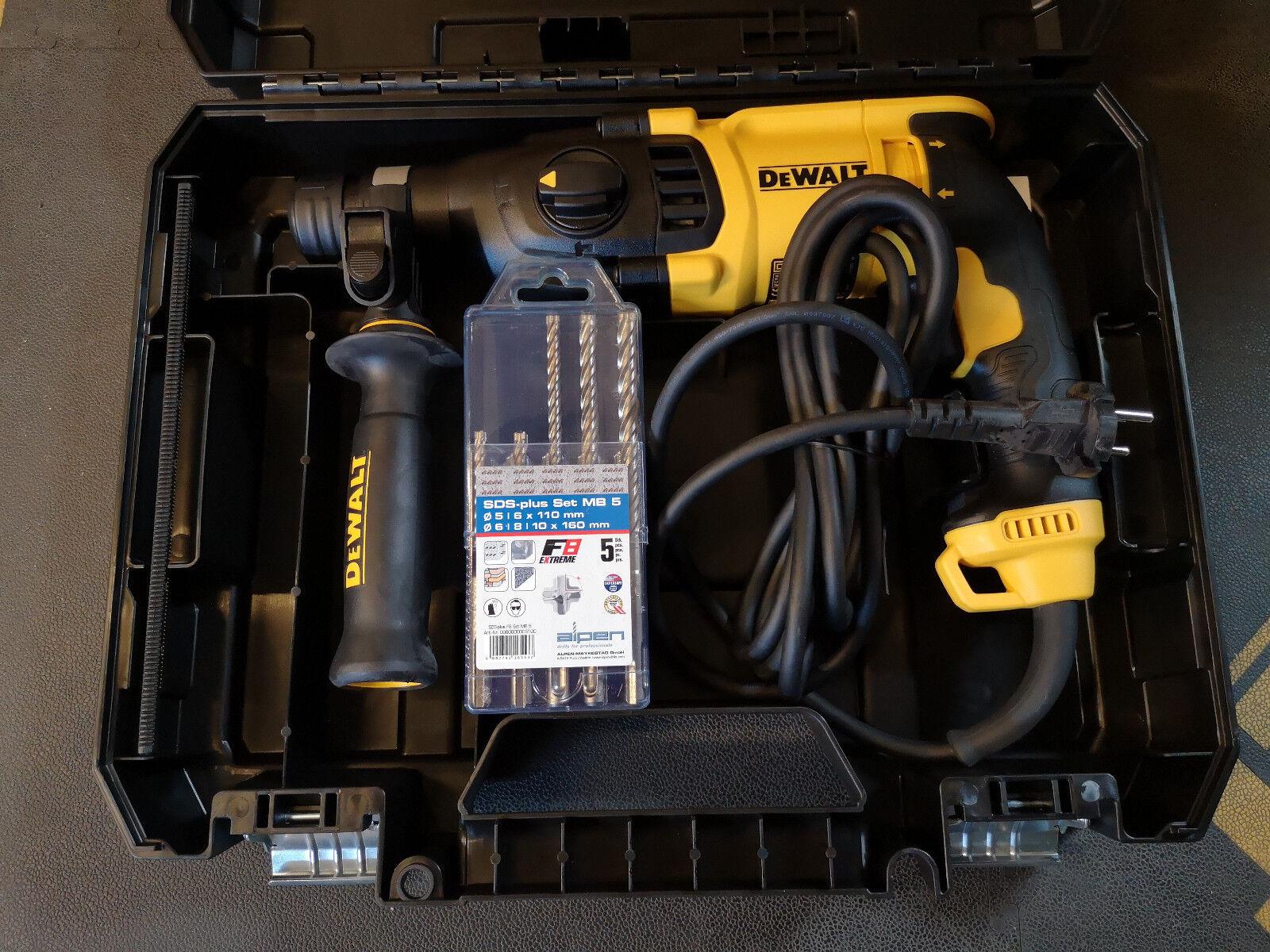 DeWALT D25133K SDS-plus Kombihammer 800 Watt mit 5 tlg. Bohrerkassette 4-Schneid