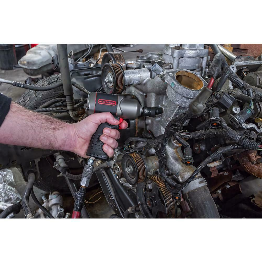 GearWrench 84918N 15Pc 3//8 Drive 6 Point Metric Universal Impact Socket Set