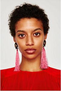 New-Fashion-Bohemian-6-Colors-Beads-Chain-Long-Tassel-Drop-Earrings-Jewelry