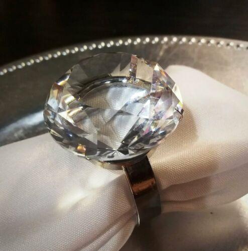 Clear Stylish Crystal Diamond Napkin Ring Holder 80 mm Wedding Engagement Gift