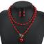 Fashion-Boho-Crystal-Pendant-Choker-Chain-Statement-Necklace-Earrings-Jewelry thumbnail 23