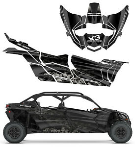 Details about Can Am Maverick X3 Max Boneyard F Decal Graphic Kit Wraps  deco sticker 4 door