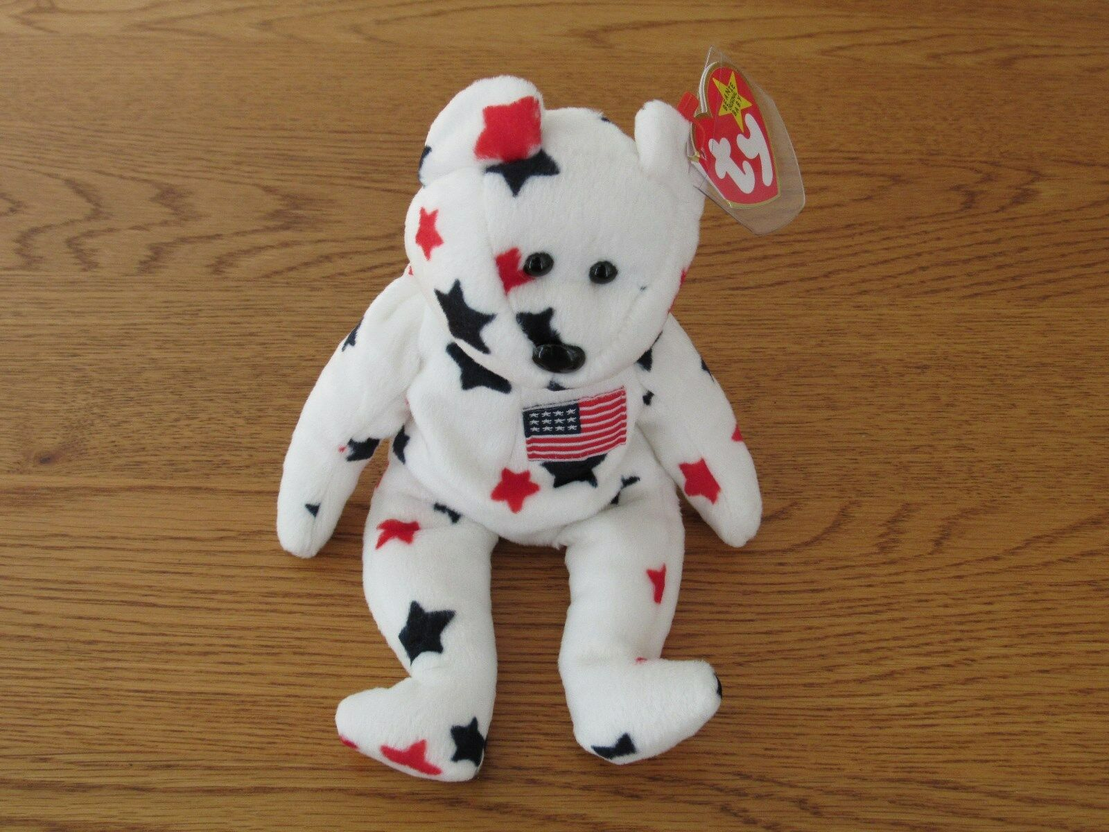 NEW TY Beanie Baby -  Glory  The Bear - 1997 - Retired With Error