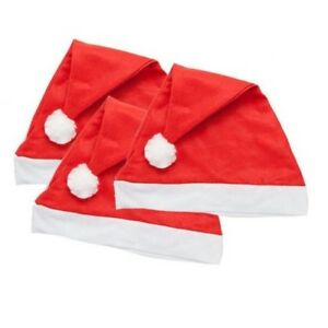 BULK BUY CHRISTMAS SANTA HATS FANCY DRESS XMAS PARTY WHOLESALE JOB LOT OFFICE DO