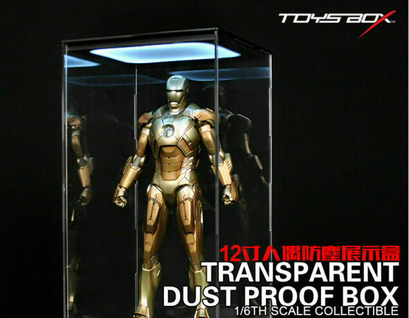1 6 LED Toys Box Transparent Display Box Dust Proof Case Fit 12  Action Figure