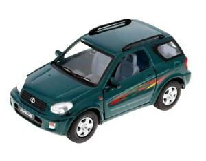 New-5-034-Kinsmart-Toyota-Rav4-Diecast-cAR-Model-Toy-SUV-1-32-Green
