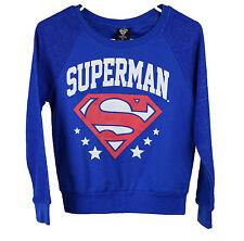 Bioworld Juniors Blue Superman Sweater Top XS