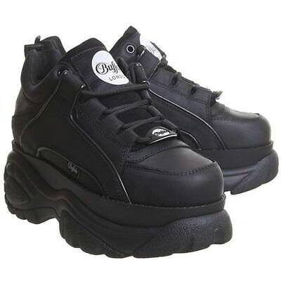 black chunky platform shoes
