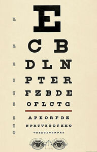 Framed-Print-Antique-Eye-Chart-Picture-Poster-Snellen-Optician-Glasses-Test