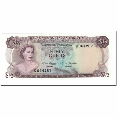 1/2 Dollar 65-70 Convenience Goods Banknote Special Section #564064 Bahamas Km:26a L.1968 Unc