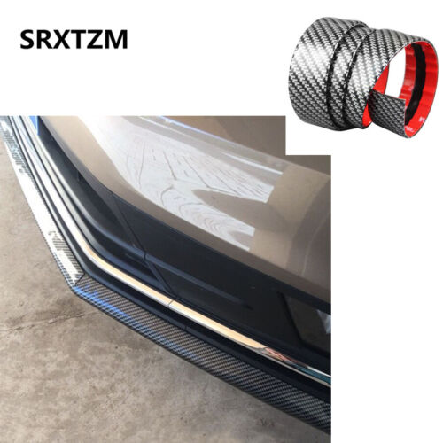1*0.1M Carbon Fiber Rubber sporty styling Auto Car Door Sill protective 1roll TH