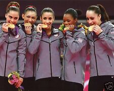 2012 USA WOMENS OLYMPICS GYMNASTICS FAB 5 8X10 SPORTS PHOTO (XLT)