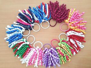 Cheerleader-Korker-Christmas-Hair-Bobble-Girls-School-Uniform-Colour-Ribbon-Lot
