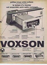 Publicité Advertising 016 1968 Voxson autoradio