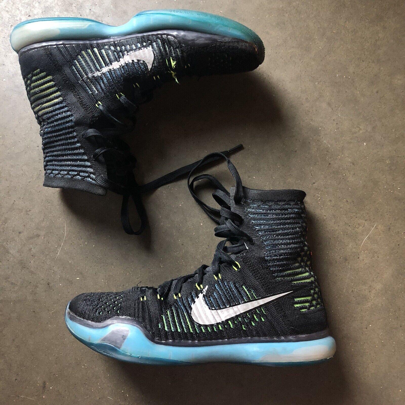precio de descuento última selección muy baratas Men's Nike Kobe Bryant 10 X Elite Commander Black Blue High Sz 9.5 ...
