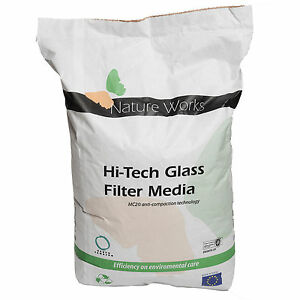 Hi-Tech-Filterglas-Kristallweiss-10J-Herstellergarantie-Filtersand-Filterglas