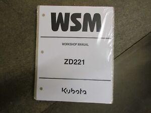 kubota zd221 zd 221 ztr mower service repair manual ebay rh ebay com 12H802 Manual Parts Manual