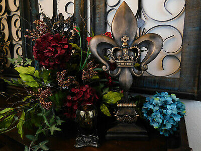 Standing Tabletop Decorations Fleur De Lis Finial Office Decor Louisiana Crown