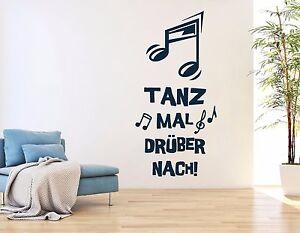Das Bild Wird Geladen Wandtattoo Wohnzimmer  Wandtatoo Flur Musik Tanzen Noten Wandspruch