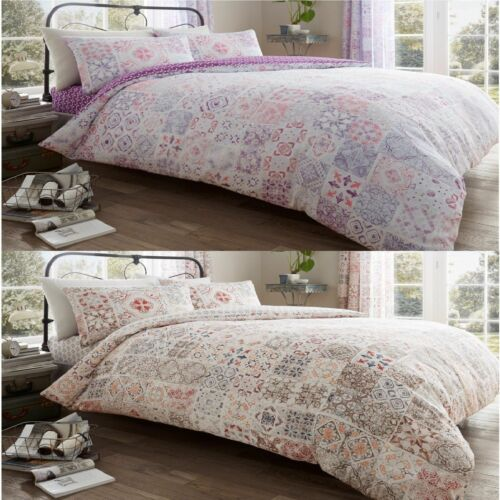 Amira Luxurious Vintage Style Duvet Cover Sets Reversible Bedding Sets All Sizes
