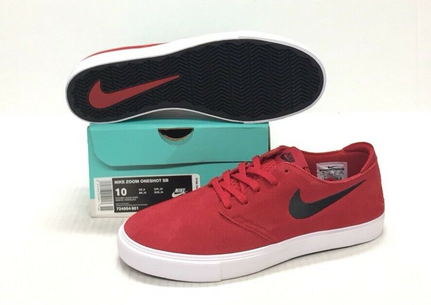 NIKE SB ZOOM ONESHOT GYM RED / BLACK-WHITE New shoes for men and women, limited time discount
