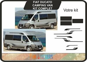 Fiat-Ducato-L4-exlwb-Camping-Car-Graphique-Stickers-Autocollants-Rayures-Camper