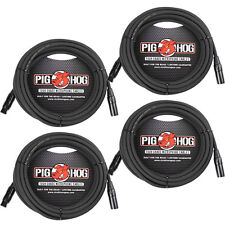 4-Pack of Pig Hog PHM15 Microphone XLR Recording Live Sound Mic Cables - 15 ft