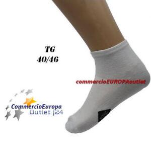24 PAIA FANTASMINI UOMO CALZE CALZINI IN COTONE NERO TG 40//46 FANTASMINO UNISEX