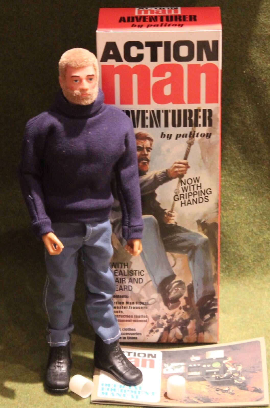 Vintage action man 40th anniversary blonde hair adventurer gripping hands boxed