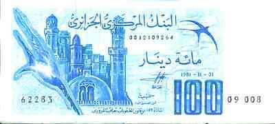 4rw 11mar At All Costs Unc Condition Ingenious Algeria 100 Dinars 1981 P 131