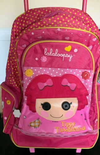 Lalaloopsy  Tippy Tumblelina  Pink Rolling Backpack Suitcase  New