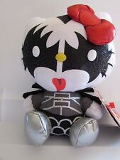 "Hello Kitty KISS The Demon Gene Simmons ty Beanie Baby 6"" Plush"