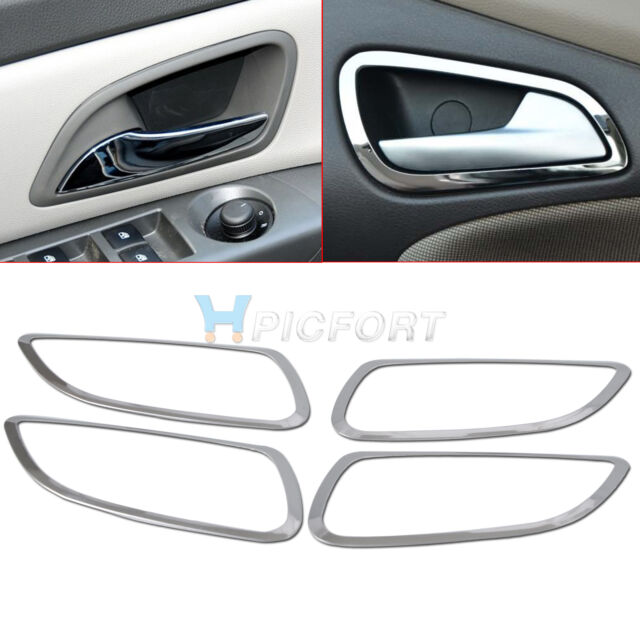 4pcs Stainless Steel Interior Inside Door Handle Cover Trim for Chevrolet CRUZE