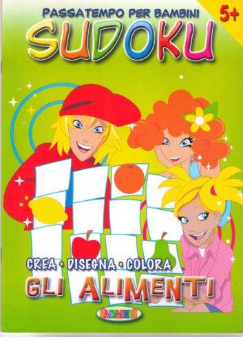 Sudoku, crea disegna colora. Gli alimenti - Salvadeos - Libro nuovo in offerta!