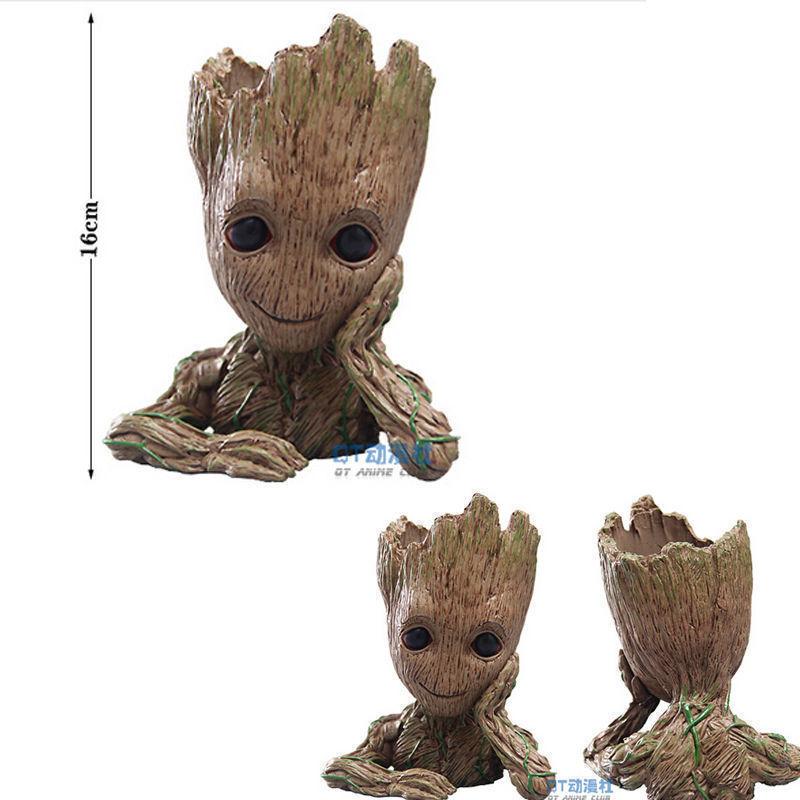 16cm Guardians of the Galaxy BABY GROOT FIGUR Blumentopf Stil Stift Pot Presents