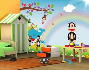 3D Karikatur Regenbogen Tier 8 Tapete Wandgemälde Tapeten Bild Familie DE Summer
