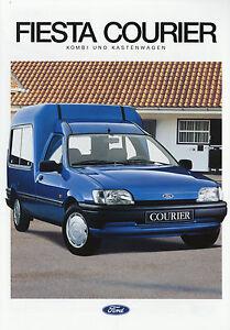 Ford-Fiesta-Courier-Kombi-Kastenwagen-Prospekt-1993-8-93-Autoprospekt-Broschuere