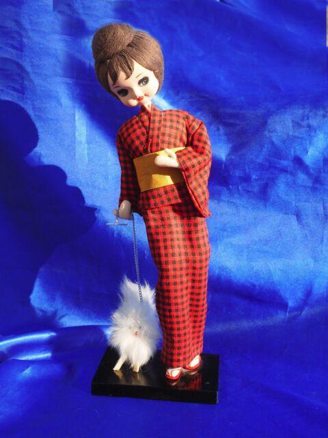 Vintage Geisha Doll Japanese Spitz American Eskimo Pomeranian