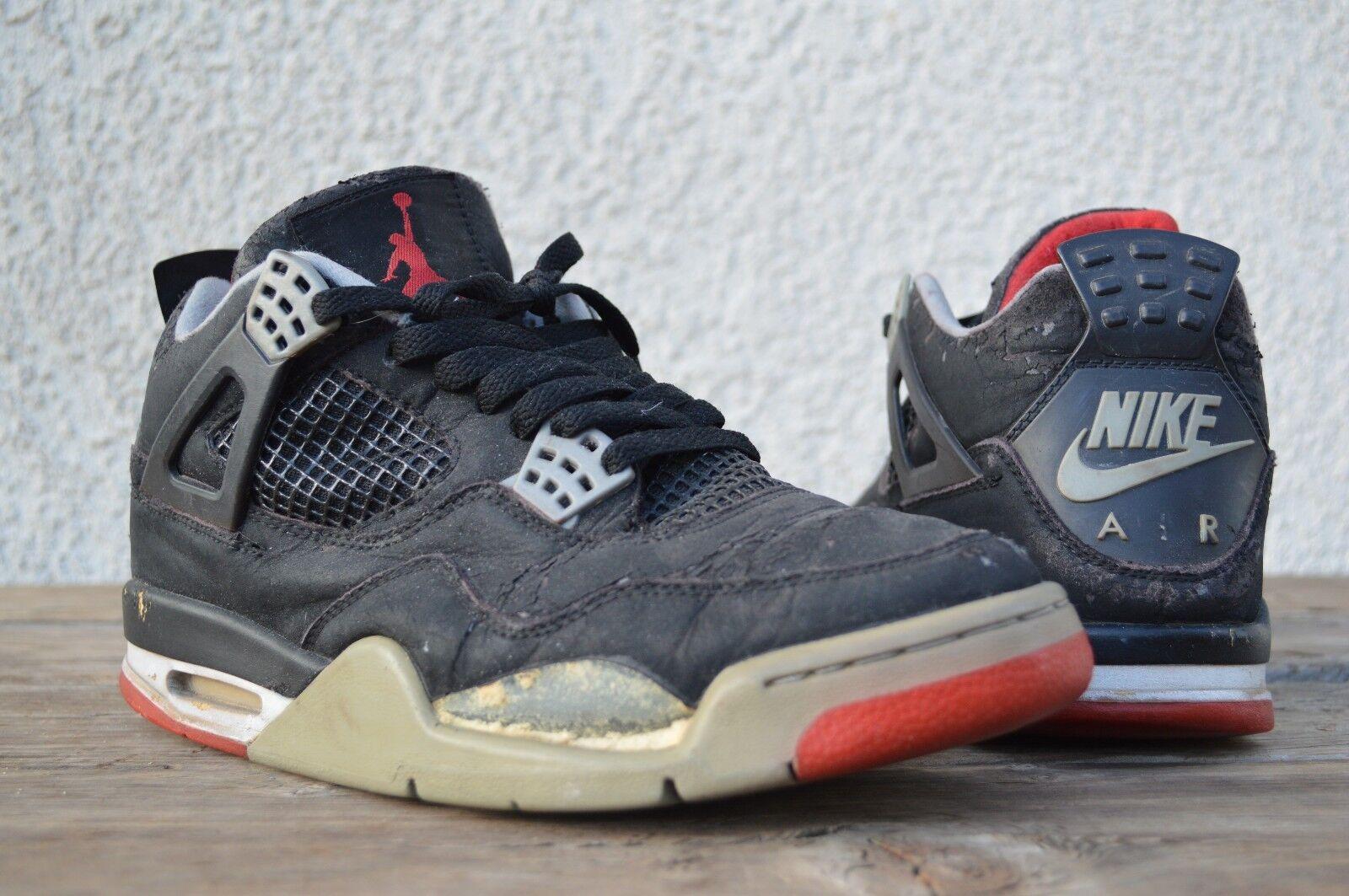 1999 Nike Air Jordan Retro 4 IV Bred Black Cement NIKE AIR BRED 4 size 9.5