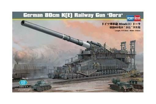 1 72 Hobby Boss German 80cm K(E) railway gun Dora