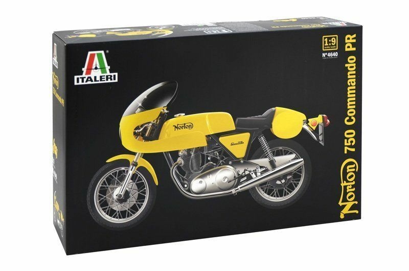 ITALERI 1:9  KIT MOTO NORTON 750 COMMANDO PR LUNGHEZZA 24,5 CM   ART 4640