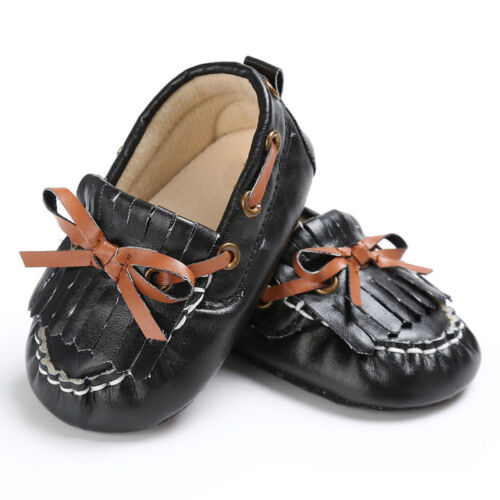 Newborn Baby Girls Leather Crib Shoes Soft Moccasin Anti-slip Sneakers Prewalker